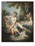 Venus Consoling Cupid Posters by Francois Boucher