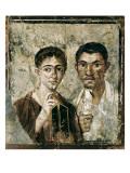 Portrait of Paquius Proculus and His Wife Premium Giclee-trykk