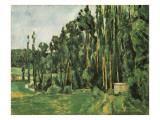 The Poplars (Les Peupliers) Affiches par Paul Cézanne
