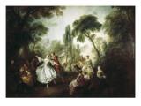 La Camargo Dancing Pósters por Nicolas Lancret