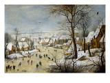 Winter Landscape with a Bird-Trap Juliste tekijänä Pieter Brueghel the Younger