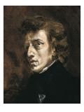 Frédéric Chopin Poster af Eugene Delacroix