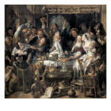 The King Drinks Poster av Jacob Jordaens