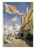 Hotel Des Roches-Noires in Trouville Giclée-Premiumdruck von Claude Monet