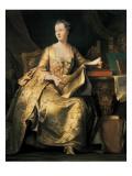 Jeanne-Antoinette Poisson, Marquise De Pompadour Kunstdrucke von Charles Von Steuben