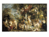 The Feast of Venus Posters af Peter Paul Rubens