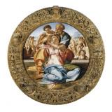 The Holy Family with St Kunstdrucke von  Michelangelo