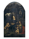 The Virgin of the Rocks Print by  Leonardo da Vinci