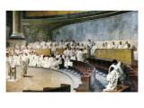 Cicero Denouncing Catiline Plakater av Cesare Maccari