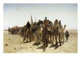 Pilgrims Going to Mecca (Pélerins Allant À La Mecque) Art by Leon-Auguste-Adolphe Belly