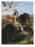 Equestrian Portrait of Louis XIV Kunst af Pierre Mignard