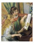 ピアノに寄る二人の少女 ポスター : ピエール=オーギュスト・ルノワール