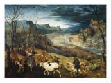 The Return of the Herd Plakater af Pieter Bruegel the Elder