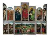 The Ghent Altarpiece or Adoration of the Mystic Lamb Taide tekijänä Hubert & Jan Van Eyck