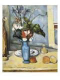 El jarrón azul Láminas por Paul Cézanne