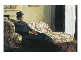 Meditation, or Madame Monet on the Sofa Giclée-Premiumdruck von Claude Monet