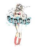 Zirkus Giclée-Premiumdruck von Manuel Rebollo
