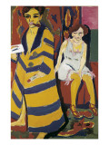 Self-Portrait with Model Prints by Ernst Ludwig Kirchner