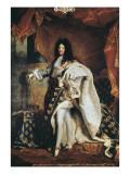 Louis XIV Premium Giclee-trykk av Hyacinthe Rigaud
