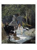 Dejeuner Sur L'Herbe, Chailly (The Luncheon on the Grass) Giclée-Premiumdruck von Claude Monet