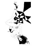 Falling Giclée-Premiumdruck von Manuel Rebollo