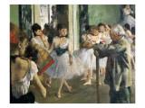 La clase de danza Láminas por Edgar Degas