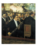 The Opera Orchestra Poster por Edgar Degas