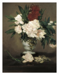 Peonies in a Vase Posters by Edouard Manet
