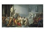 The Death of Julius Caesar Premium Giclee-trykk av Vincenzo Camuccini