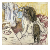 Woman at Her Toilet Art by Edgar Degas