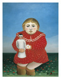 The Girl with a Doll Arte por Henri Rousseau