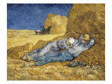 Noon, or the Siesta, after Millet Affiches par Vincent van Gogh