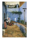 The Blue Courtyard Prints by Santiago Rusinol