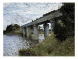 The Railway Bridge at Argenteuil Plakater af Claude Monet
