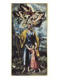 Saint Joseph and Child Jesus Láminas por  El Greco
