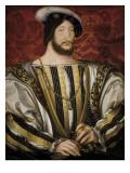 Portrait of François I, King of France Planscher av Jean Clouet