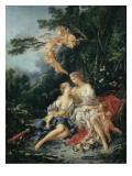 Jupiter and Callisto Affiche par Francois Boucher