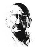Gandhi Kunstdruck von Alex Cherry