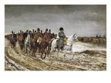 Napoleon on Campaign in France,1814 Plakater af Jean-Louis Ernest Meissonier