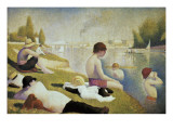 Bathers at Asnières Affiches par Georges Seurat