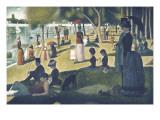 A Sunday on La Grande Jatte 1884, 1884-86 Affiches par Georges Seurat