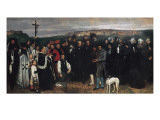 Burial at Ornans (Un Enterrement a Ornans) Posters by Gustave Courbet