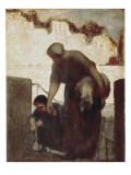 The Washerwoman (La Blanchisseuse) Art by Honore Daumier