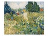 Mademoiselle Gachet in Her Garden at Auvers-Sur-Oise (Mademoiselle Gachet Poster av Vincent van Gogh