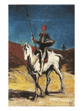 Don Quixote Art by Honore Daumier