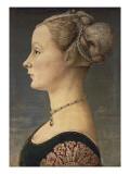 Portræt af en kvinde Plakater af Antonio Pollaiolo