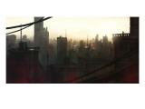 City at Dawn Giclée-Premiumdruck von Stephane Belin