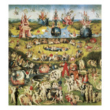 The Garden of Earthly Delights Kunst på metal af Hieronymus Bosch