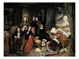 Liszt at the Piano Kunstdruck von Josef Danhauser