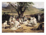Meeting of Arabian Chiefs Affiches par Horace Vernet
